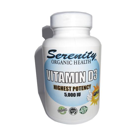 Organic Vitamin D3 Powerful 5000iu. Formula
