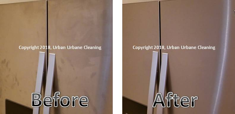 UUC Stainless Steel Fridge B&A (c) 2018