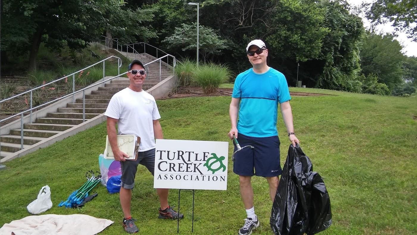 UUC Turtle Creek Cleanup Volunteers