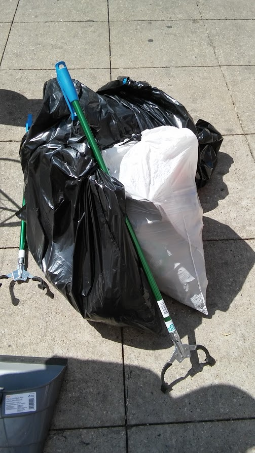 Operation Beautification Four Bags of Trash
