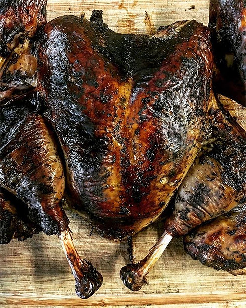 Spatchcock Smoked Jerk Turkey #imdiffere