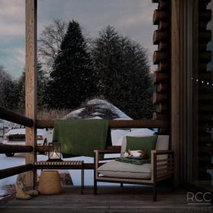 WInter Cabin - Outdoor View