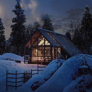 WInter Cabin - Exterior view