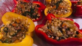 Couscous & Italian Sausage Stuffed Bell Peppers