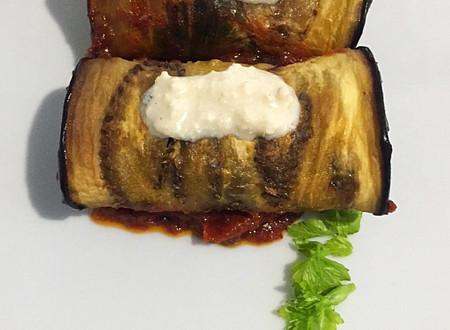 Eggplant Roll-ups with Tofu Cream Sauce