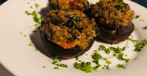 Herb,Vegetable & Cheese Stuffed Mushrooms