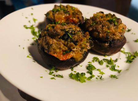 Herb,Vegetable & Cheese Stuffed Mushrooms