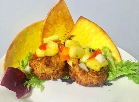 Grouper Fish Cakes with Pineapple Salsa