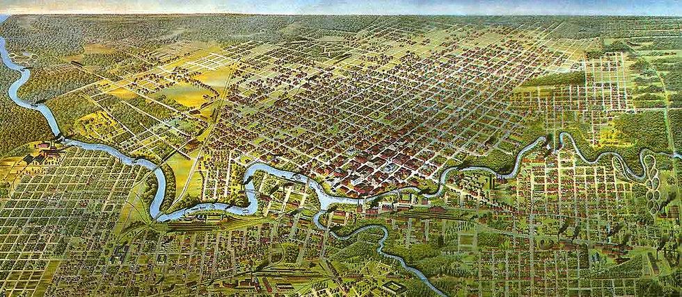 1891 Houston map