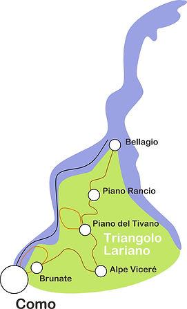 Map Lake Como Hike