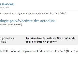 Limite des vols autorisés Covid-19