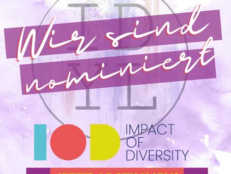 Wir sind für den Impact of Diversity Award nominiert!