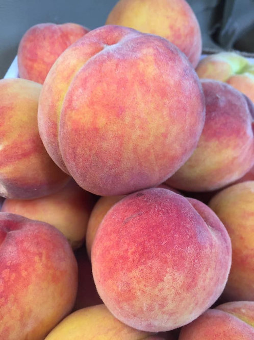 yellow peaches by quart 6 or 7 per qt depending on size could be 4/5