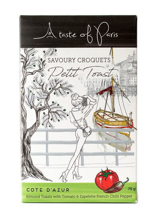 "Savoury Croquets - Petit Toast ""Cote D'Azur""- 75g"
