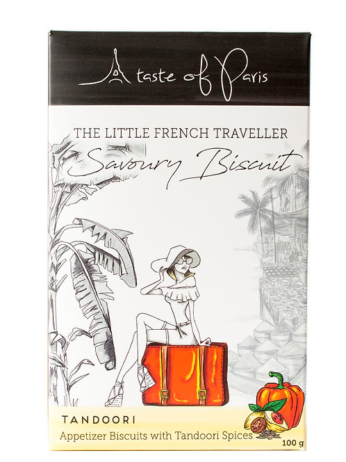 The Little French Traveller - Savoury Biscuit with Tandoori Spices- 100g