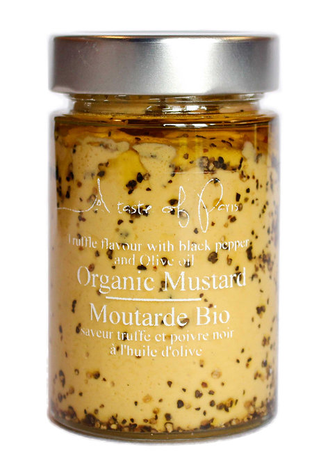 Organic Mustard  Black Truffle & Black Pepper 190g