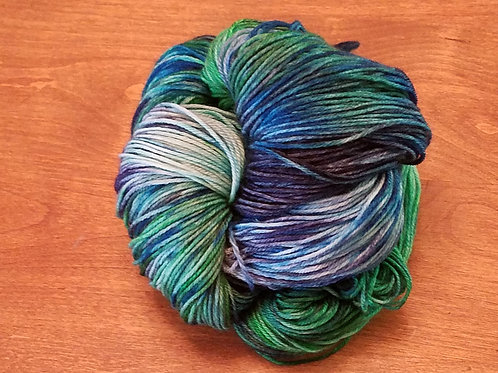 Seahawks / sounders or both variegated hand dyed yarn