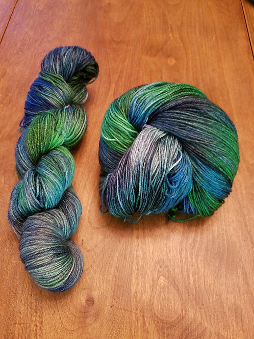 Seahawks - A Night at the Game hand dyed variegated yarn