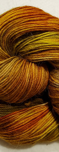 Sugar Maple variegated hand dyed sock yarn