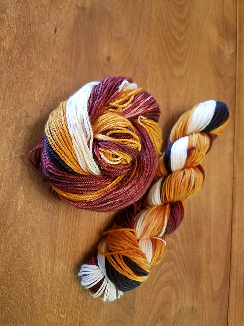 49's self striping hand dyed yarn