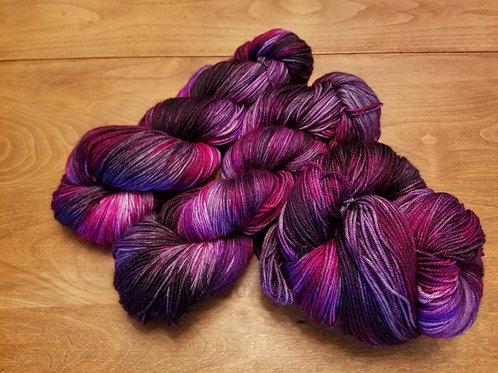 Sweet Raspberry Rain variegated sock yarn