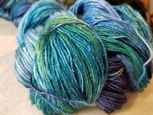 Northern Lights Sparkle Variegated Fingering yarn
