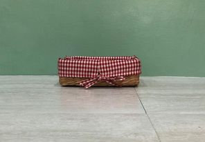 Small Rectangle Bancuan with Red Checkered Lining Tray