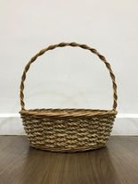 White Rope Natural with Handle Basket