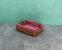Large Rectangle Bancuan with Red Checkered Lining Tray
