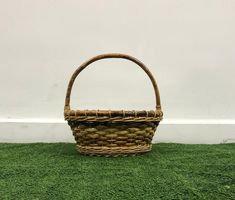 Natural Handle Bamboo Basket