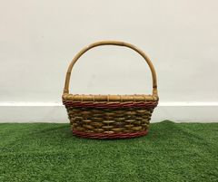 Dual Red Accent Basket with Handle
