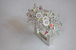 Argent & perles de crystal