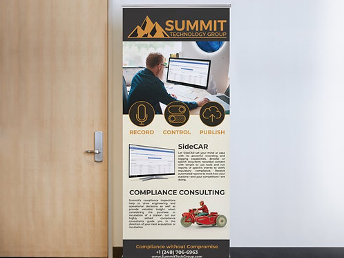 SideCAR Retractable Banner Sign
