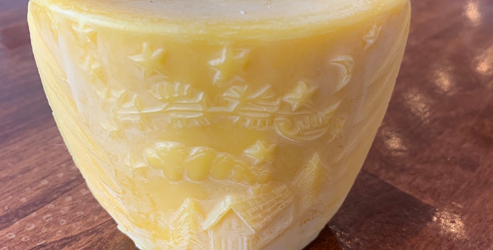 Starry Night Beeswax Candle
