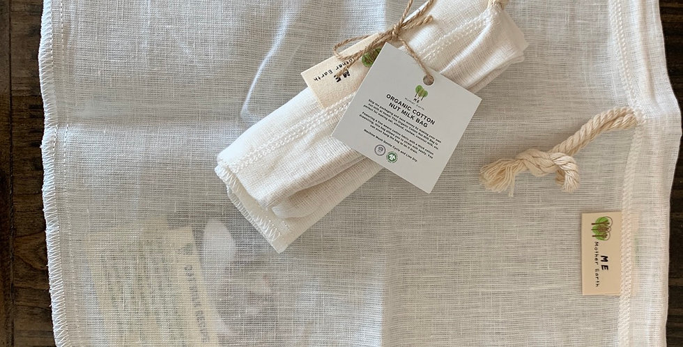 Organic Cotton Nut Milk Bag By Me Mother Earth