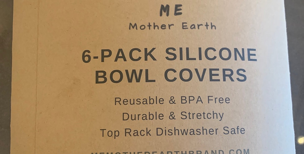 6-Pack Silicone Bowl Covers
