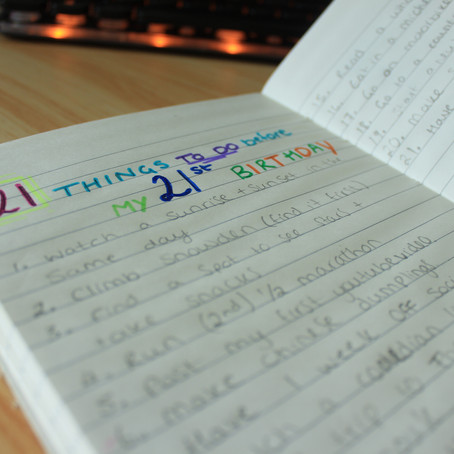 21 things to do before my 21st Birthday