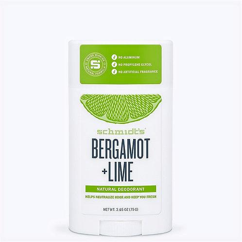 Déodorant stick Bergamot +Citron vert 100% naturel -Schmidt's