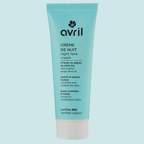 Crème de nuit peaux normales à mixtes BIO - Avril