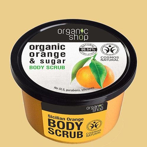 Gommage enrichi en huile d'orange BIO et au sucre naturel - Organic Shop