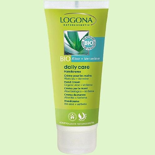 Crème pour les mains à l'Aloe vera + la Verveine BIO - LOGONA