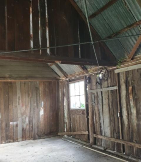 Slab Hut interior