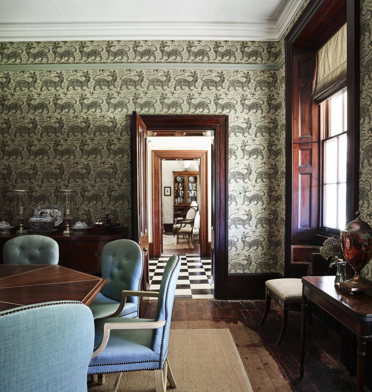 Formal Dining Room looking through to Th