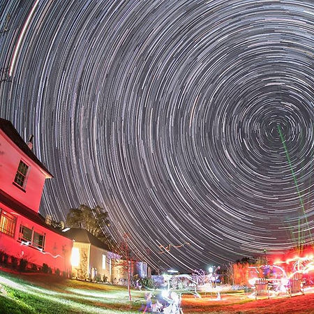 Time lapse image of the night sky at Terragong Jamberoo