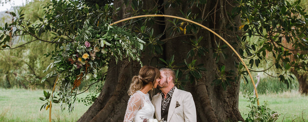 Terragong's magnificent trees provide a dramatic backdrop for ceremonies