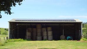 Barn with solar array