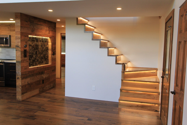 Accent lighted stair case