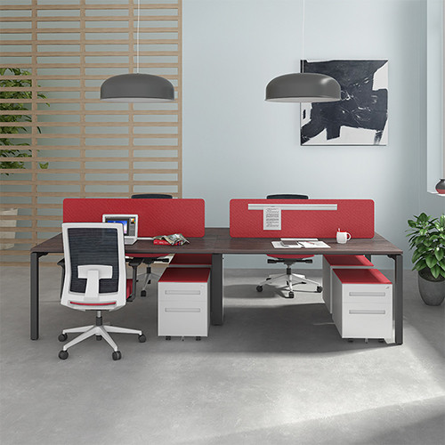 open plan office furniture for 4 person