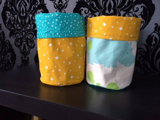 Corbeilles en tissu décoratives