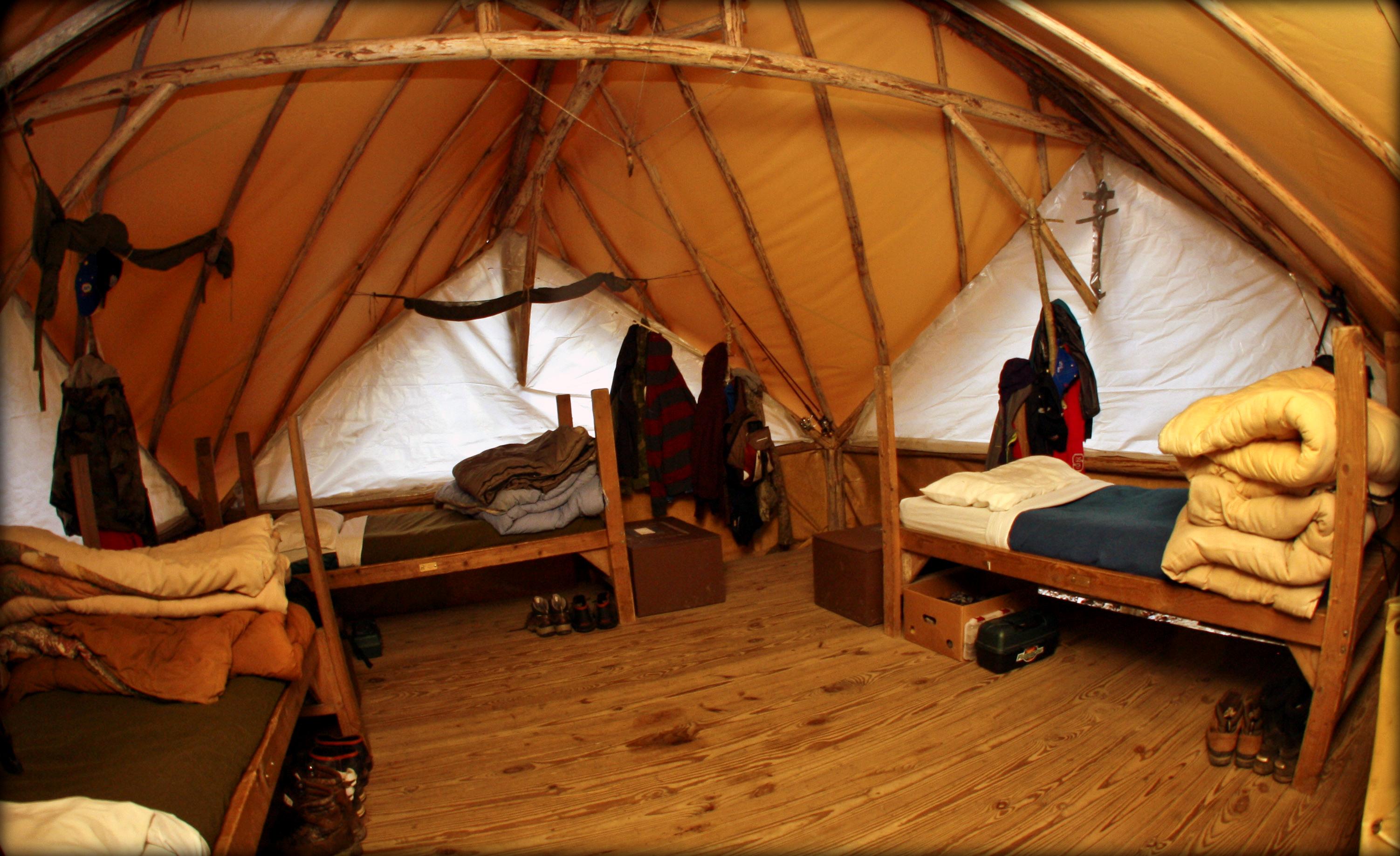 Cameron Boys Camp Inside Tent